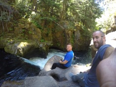 Just sitting on a ledge over the waterfall