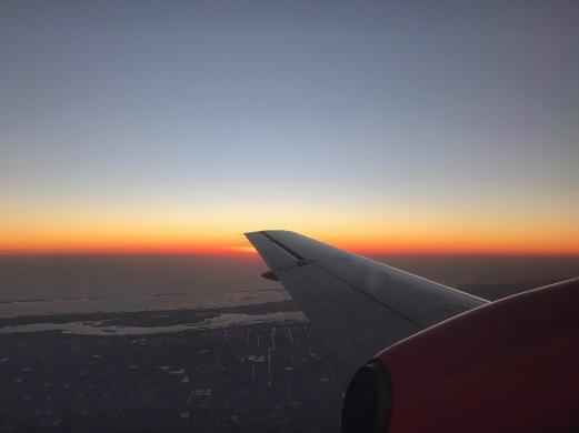 Sunset as seen from 10,000 feet