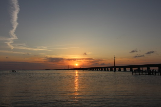 Sunset over the 7-Mile Bridge